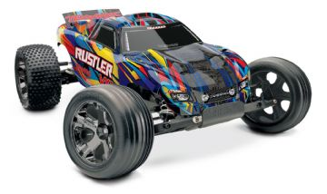 Traxxas 37076-4 Rustler VXL Brushless 2WD TSM  Rock n Roll